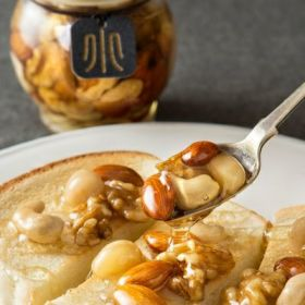 MY HONEYさんとのコラボレーション 香ばしナッツの蜂蜜漬