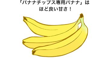 バナナチップス専用バナナはほど良い甘さ!