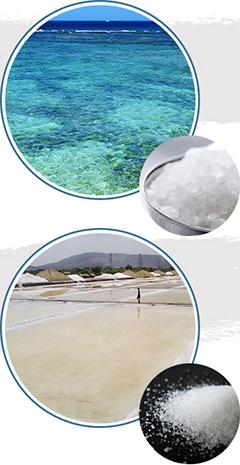 沖縄粉塩と赤穂の粒塩